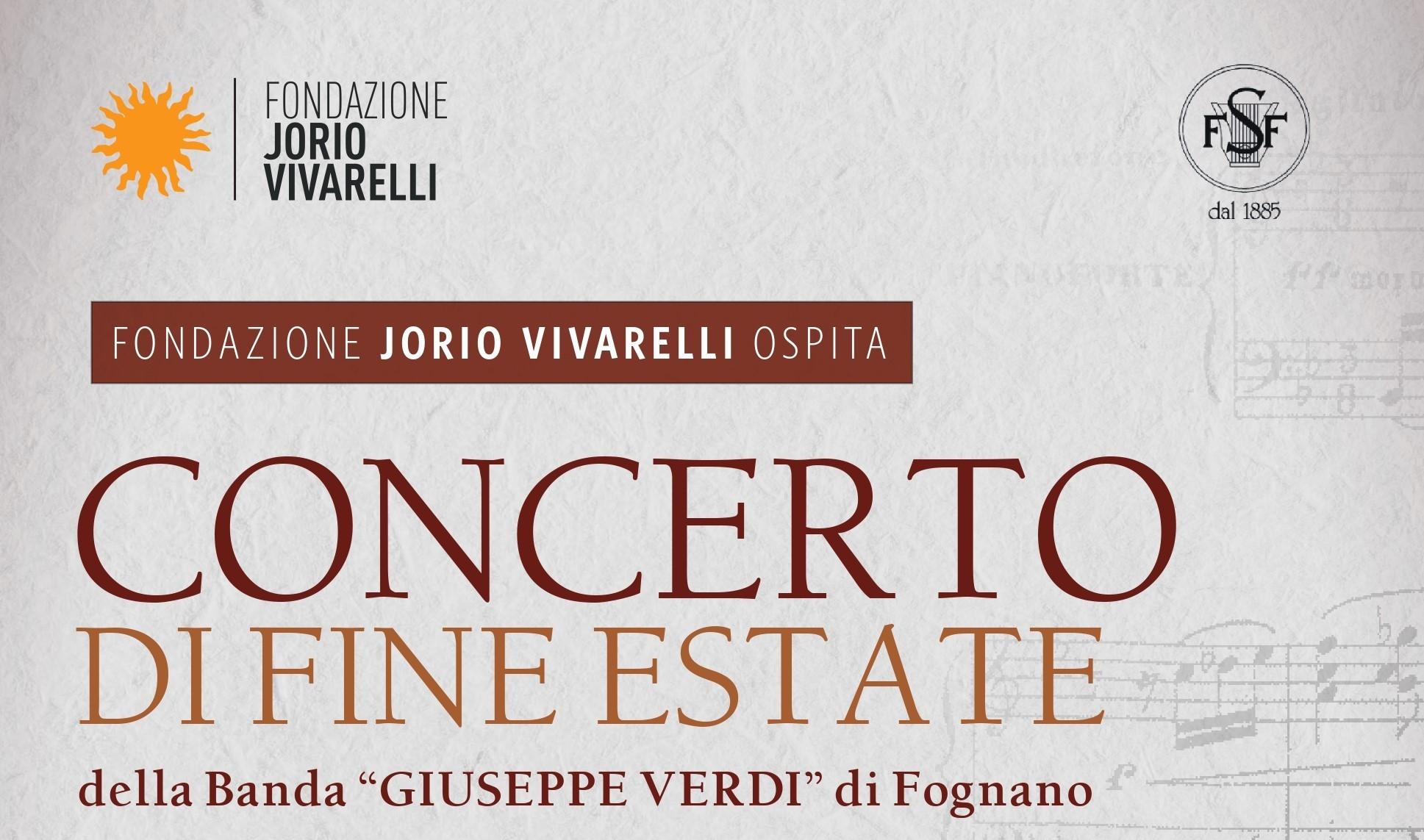 """CONCERTO DI FINE ESTATE – Banda """"Giuseppe Verdi"""" di Fognano"""